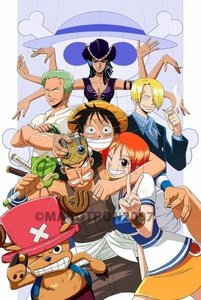one piece , they r so crazy and funny and i प्यार pirates