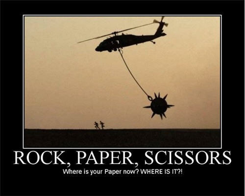 for the game of rock, paper, scissors