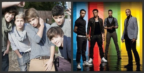 all of JLS's songs and forever Young sejak One Direction xxx (JLS on the left and One Direction on the right)