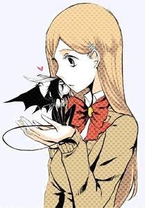 Orihime and Ulquiorra...♥ :3
