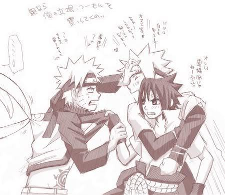 Haha Minato caught Sasuke x3
