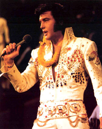 I'd love to Spend the دن with Elvis Presley. He's an amazing singer, much better than the crap today.