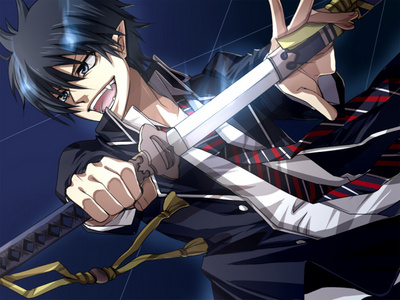 Rin Okumura! *fangirl scream* He's mine, and anda can't have him, bitches! >:D Wait...you probably don't know who he is. XD
