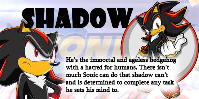 im Shadow and i act like him