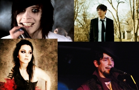 I have four favorites... xD All of them are singers. Andy Sixx (The guy with the rape-face on) Adam Young (The closest one to normal in the picture. xD And even he isn't all that normal... xD) Amy Lee (The only girl... xDD) And... Voltaire (The dude with the awesome haut, retour au début hat and goatee.) And all of 'em are kinda hot.... xD Just saying.
