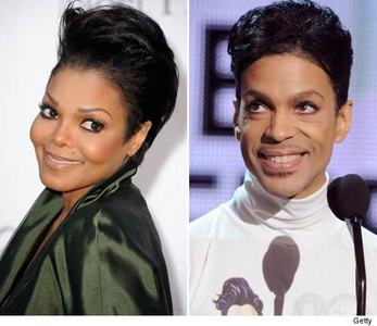 Prince and Janet Jackson <3 lol they kinda have the same hair style :P