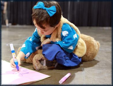 heres a kid dressed up like shippo from inuyasha. i hope 당신 like! ^_^