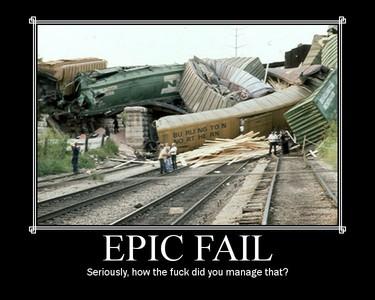 A train wreck.