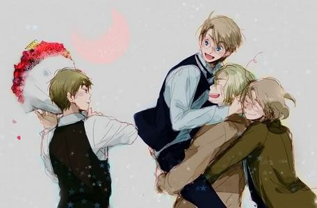 I upendo FrUk, but UsUk is my hearts upendo <3 But I actually upendo a blonde upendo pembetatu ;D The little brother and older brother fighting for the one in the middle- IGGY! <333 But all in all... I upendo THE FACE FAMILY.... France America Canada England FACE RULES!!! <33