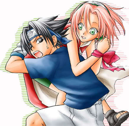 Sasuke and Sakura(sorry only pic I've got of them)