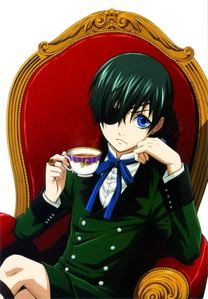 [b]Ciel Phantomhive from Kuroshitsuji!:D And his hair color is greyish blue,while the eyepatch covers his contract with Sebastian :3.[/b]