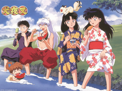 well since its summer i guess Inuyasha and his Những người bạn relaxing would count!