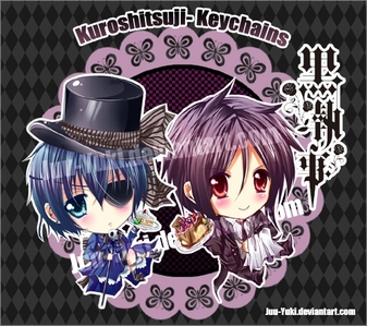 Chibi ciel and sebby ;) i think its kawaii