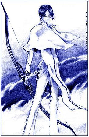 Uryu Ishida with his short cape!!