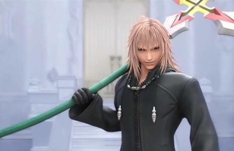 This is Marluxia :) He's from a game called 'Kingdom Hearts' and he has the prettiest kulay-rosas hair EVAR. Who agrees with me?