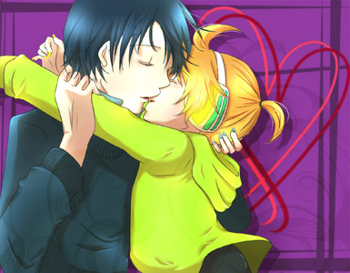 Vocaloid's Kaito and Len. not as good as the rest...I know... *looks at picture* aw, how cut my دل is melteing.. ~Th-thump~ MY دل IS GELTING, OH MY GAH! *drops dead*