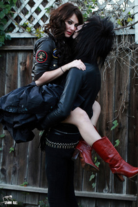 Andy's ex. They were sooo good together. She was in Rob Zombie's Halloween and Halloween 2!!I want her boots!!