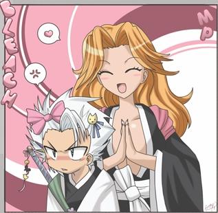 Toshiro and Rangiku from Bleach