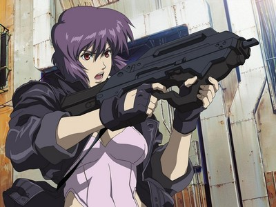 Major Mokoto from Ghost in the Shell has great hair.