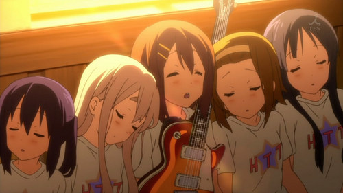 Here's one from K-ON!! (L-R) Azusa, Mugi, Yui, Ritsu & Mio.