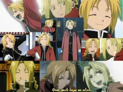 Edward Elric(from Full Metal Alchemist) has a nice smile.