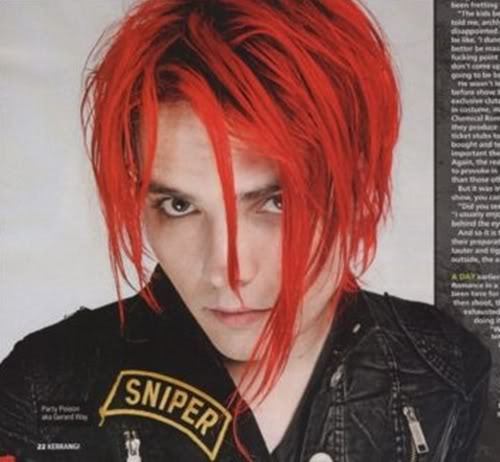 Gerard Way. He is pretty insperational to me and I think he is damn hot!