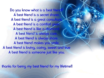 what does best friend mean to you?