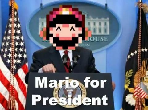 আপনি say spaghetti, I think Mario. Vote Mario 2012