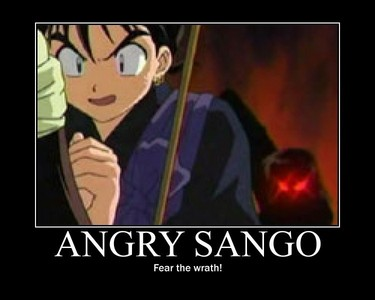 Run for your life Miroku!!!!Sango is one MAD person!!!!