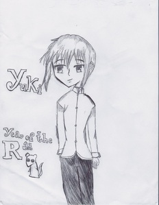 Here, I drew this sketch of Yuki a while ago... it's not done yet.