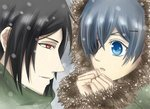 Sebastian and Ciel!<3333 I just প্রণয় ths couple...>w<;