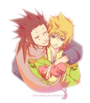 I put my vote on Axel and Roxas (Kingdom Hearts series)