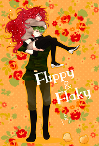 Flippy and Flaky. btw,this is a fanart of them humanized XD