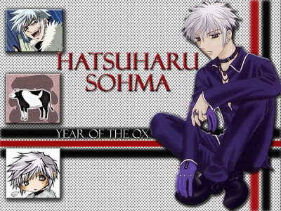 hatsuharu sohma hot and cold and black and white