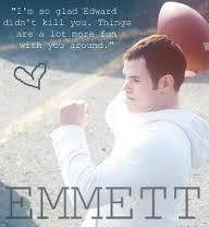 emmett cullen,of cource!!!!!! :) (and its emmett not emment, im not being mean hoặc anything :/)