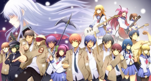 Um there are lots of ones I can tell te if te want più specific types of animes but the one te are asking for try Angel Beats, I am rewatching right now. Its really good and have a good story line.