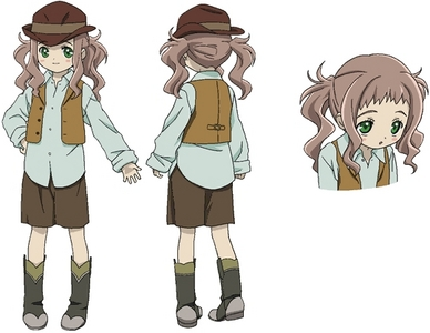 Lirio from El Cazador de la Bruja. She's so cute and adorable and special! :3 In the anime she's traveling with a bounty hunter who really cares about her.