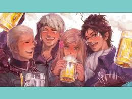 the germans from Hetalia partying!!!
