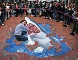 Sidewalk Art 鮫, サメ