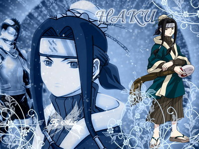 Haku from Naruto and beautiful long hair. I just wish he was still alive:(!