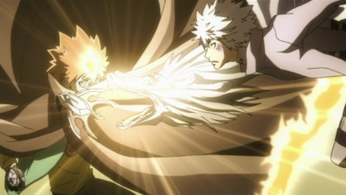 This is a picture from when Tsuna was fighting Byakuran in Katekyo Hitman Reborn!