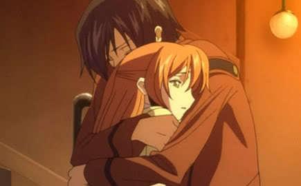 LuLu and Shirly hugging.