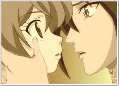 Shun and Alice from anime Bakugan...Watching this pic makes me want to cry.So romantic^^^