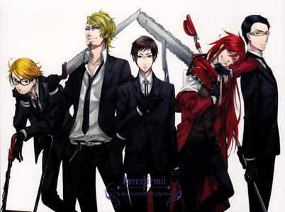 Sorry, they are in a group but they all have glasses. Shinigami's #1 Rule: A shinigami should always wear their glasses.