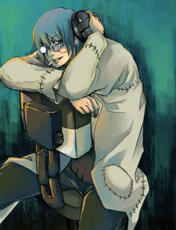 Well then. I have the perfect one. ;] Dr. Stein from Soul Eater!! Yeeaaahhhhh!!!