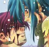 this is the best couple to me he goes around the world even gets shot just to save her(Full Metal Panic~SousukexKaname)