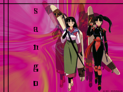Sango!!!!!!!!!!!!!!!!!!!!!!!!!:D she knows how to kick butt