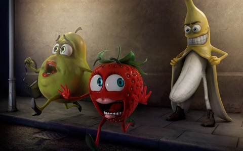 O_o I never knew bananas were so evil Remember Kids: Dont talk to strangers in an overcoat, they will rape bạn xD pOOR FRUITS D:<< :( Dont ever mess with Mr. trái chuối, chuối