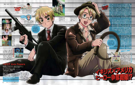 Is it alright if I post 2? Cuz these are the 2 awesomest Anime dudes I can think of!!! America and Britain!