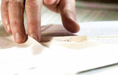 In episode 1x05, the coach sees Stiles' file, picks it up, and says he can't pronounce Stiles's first name. However, there's a screencap of the file, and you can see part of Stiles' first name. It's something-ienim Stilinski. I'm guessing we won't find out what his name actually is until the last episode, if even then.